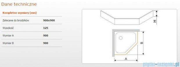Sanplast Obudowa brodzika OBPK 90x90x12,5 cm 625-401-0830-01-000