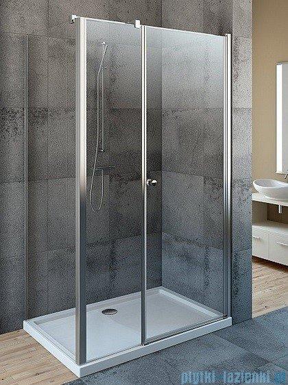 Radaway Eos KDS kabina prysznicowa 100x80 prawa szkło przejrzyste + Brodzik Argos D + Syfon 37550-01-01NR