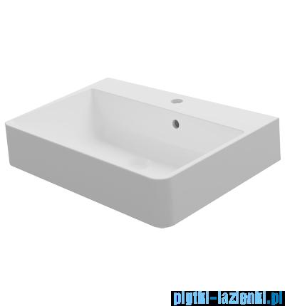 Omnires umywalka nablatowa 60x45cm biała ChaniaMarble+