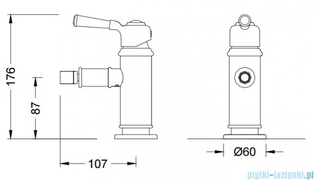 Blue Water Calitri bateria bidetowa chrom CAL-BB.040C