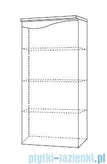 Antado Wave słupek niski prawy 40x32cm grafit mat VA-165R-U164