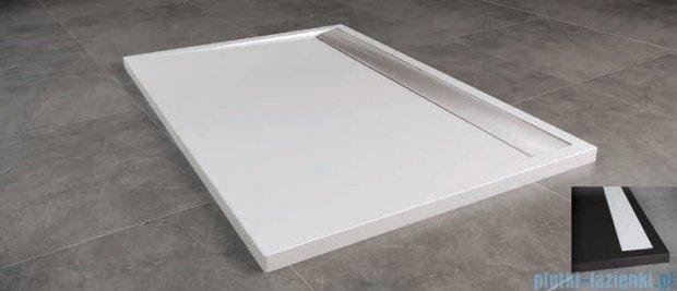 SanSwiss WIA Brodzik konglomeratowy prostokątny 80x90cm czarny/biały WIA8009004154