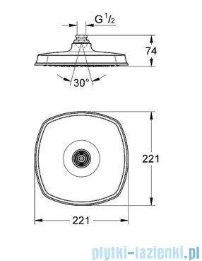 Grohe Rainshower® Grandera™ 210 prysznic ręczny jednostrumieniowy chrom 27974000