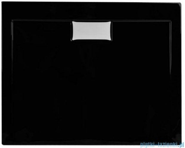 Polimat Comfort brodzik akrylowy posadzkowy 90x90 czarny mat 00831
