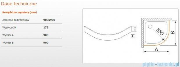 Sanplast Obudowa brodzika OBP 90x90x17,5 cm 625-403-0430-01-000