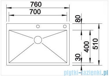Blanco Zerox 700-IF/A zlewozmywak  stal szlachetna polerowana  z k. aut. 515641