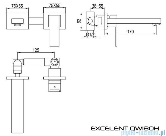 Kohlman Excelent podtynkowa bateria umywalkowa  QW180H
