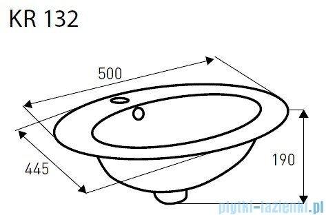 Novoterm Kerra Umywalka owalna wpuszczana w blat KR 132 50x44,5 cm