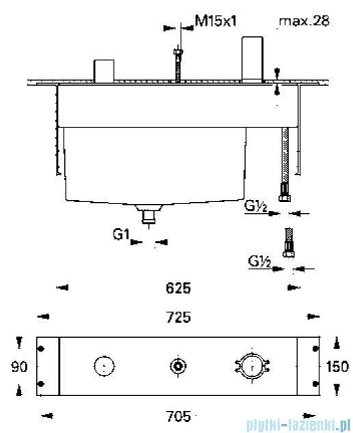 Grohe Zestaw podtynkowy 3-otworowa bateria wannowa 33339000