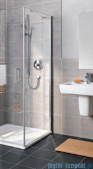 Kermi Gia XP Ściana boczna, prawa, szkło przezroczyste, profile srebrne 80x185cm GXTWR08018VAK
