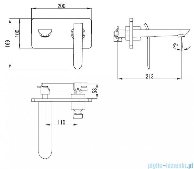 Art Platino Emira bateria umywalkowa podtynkowa chrom/biała EMI-BPU.110BC