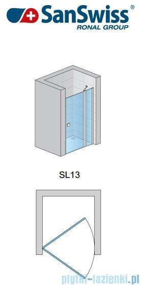 SanSwiss Swing Line SL13 Drzwi prysznicowe 80cm profil połysk SL1308005007