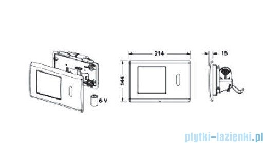 Tece Mechanizm spłukujący elektroniczny do WC Teceplanus stal szlachetna szczotkowana 9.240.350