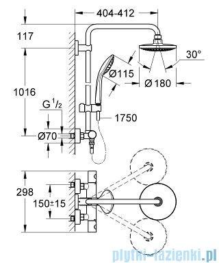Grohe Euphoria zestaw natryskowy termostatyczny chrom 27420001