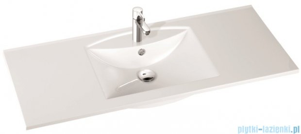 Marmorin umywalka nablatowa Larissa 120 cm bez otworu biała 300120022010