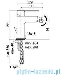 Paffoni  Bateria bidetowa stojąca Effe chrom EF131CR