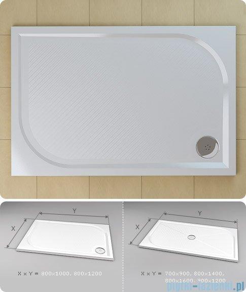 SanSwiss Marblemate Wma Brodzik prostokątny 80x120cm granit czarny WMA80120154