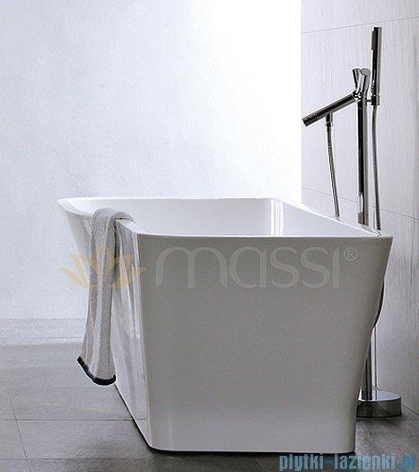 Massi Vago 150 wanna wolnostojąca prostokątna 150x78cm biała MSWA818150