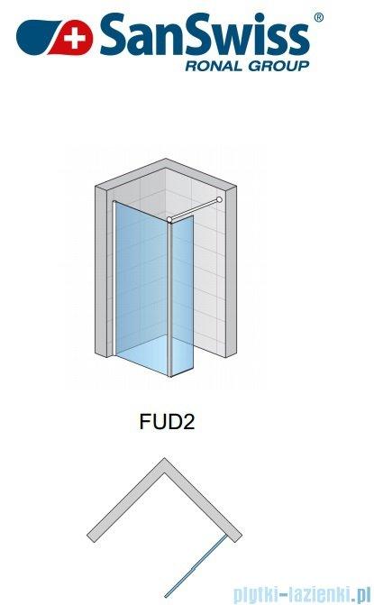 SanSwiss Fun Fud2 Ścianka jednoczęściowa 140cm profil połysk FUD214005007