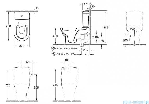 Villeroy&Boch Omnia architectura Miska ustępowa lejowa do WC-kompaktu    56771001
