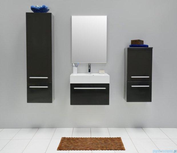 Antado Spektra szafka z umywalką, wisząca 60x50x33 szary połysk wolfram grey FDF-442/6GT-56 + UNA-600