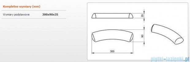 Sanplast Zagłówek żelowy - błękitny 300x90 mm 661-A0020-44