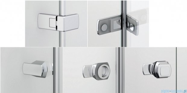 Sanswiss Melia ME31P Kabina prysznicowa prawa 120x120cm przejrzyste ME31PD1201007/MET3PG1201007