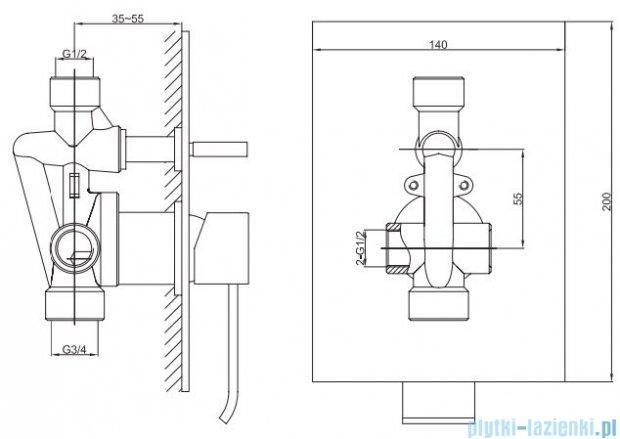 Kohlman Axis zestaw prysznicowy chrom QW210NR25