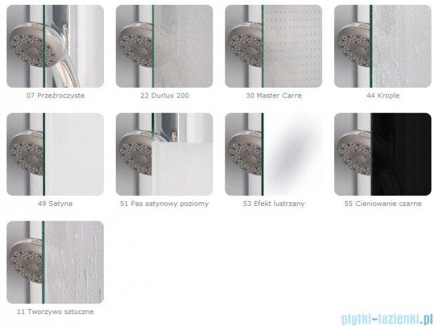 SanSwiss Eco-Line Wejście narożne Eco 75cm profil biały- szkło przejrzyste Lewe ECOG07500407