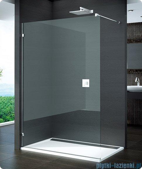 SanSwiss Pur PDT4 Ścianka wolnostojąca 30-100cm profil chrom szkło Pas satynowy Lewa PDT4GSM11051