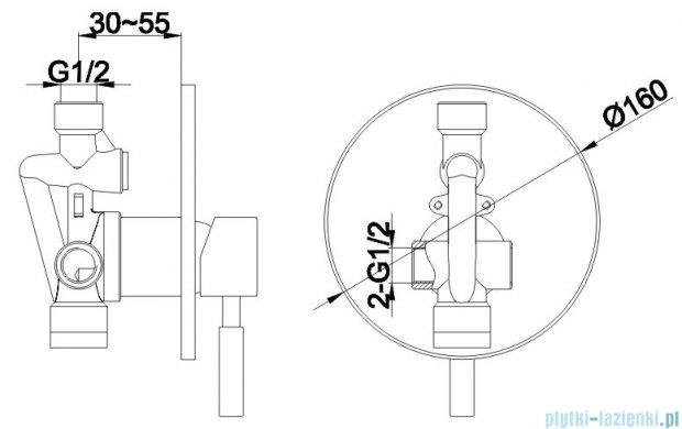 Kohlman Roxin zestaw prysznicowy chrom QW220RR25