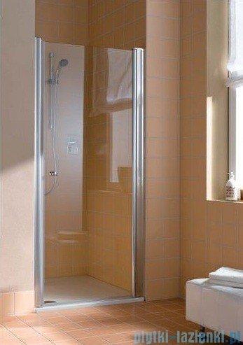 Kermi Atea Drzwi wahadłowe jednoskrzydłowe prawe, szkło przezroczyste, profile białe 75cm AT1WR075182AK