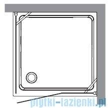 Kerasan Kabina kwadratowa lewa, szkło dekoracyjne przejrzyste profile brązowe 100x100 Retro 9150N3