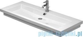 Duravit 2nd floor umywalka z przelewem z trzema otworami na baterie 1200x505 mm 049112 00 30