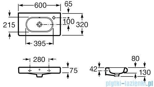 Roca Meridian-N Compacto Umywalka 60x32cm z powłoka Maxi Clean A32724X00M