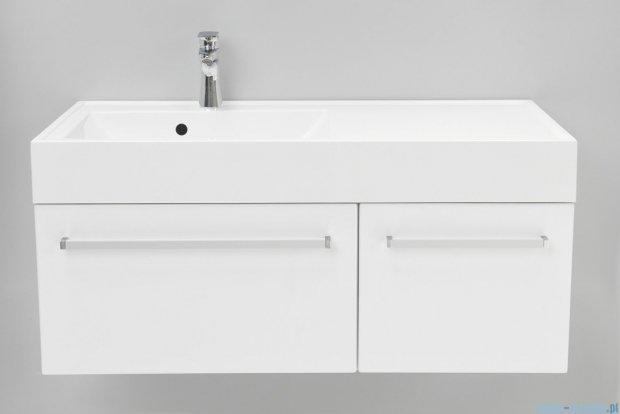 Antado Variete szafka z umywalką, wisząca 100 biały połysk FM-442/6GT + FM-442/4GT + UNAM-1004L
