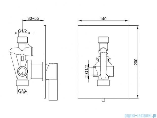 Kohlman Dexame Podtynkowa bateria prysznicowa QW220D