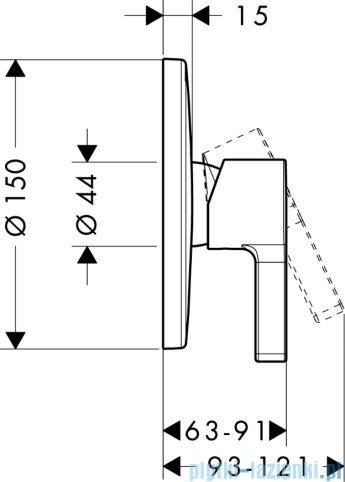 Hansgrohe Metris S Jednouchwytowa bateria prysznicowa podtynkowa 31665000