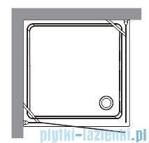 Kerasan Retro Kabina kwadratowa prawa szkło dekoracyjne piaskowane profile złote 90x90 9146P1