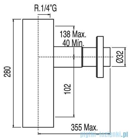 Tres Teleskopowy zewnętrzny syfon umywalkowy w obudowie kolor chrom 1.07.103.42