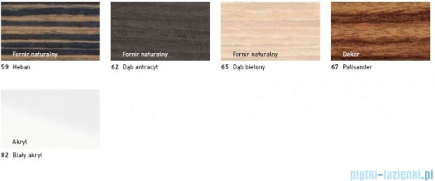 Duravit 2nd floor obudowa meblowa #700162 do wersji przyściennej dąb antracyt 2F 8902 62