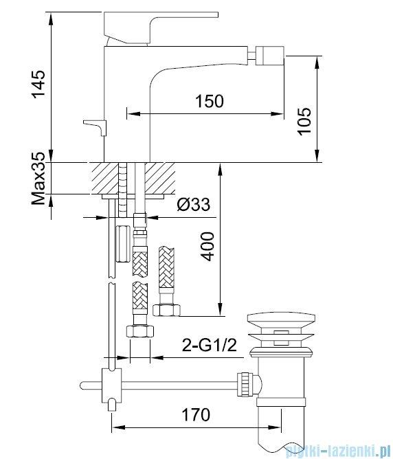 Kohlman Cexams bateria bidetowa QB130C