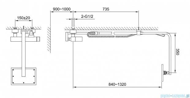 Kohlman Saxo zestaw prysznicowy QW276S