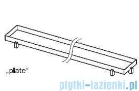 Tece Ruszt prosty Plate ze stali nierdzewnej Tecedrainline do wypełnienia płytkami 120 cm połysk 6.012.70