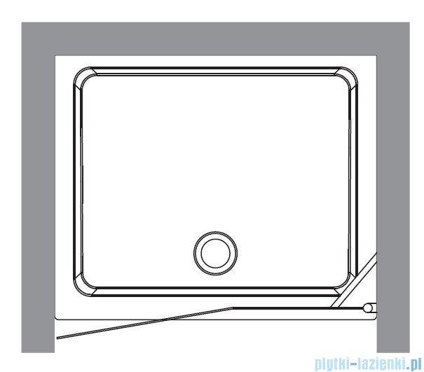 Kerasan Drzwi prysznicowe lewe, szkło dekoracyjne przejrzyste profile złote 92x180 Retro 9140N1