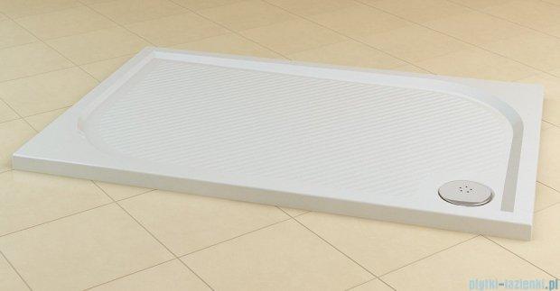 SanSwiss Marblemate Wma Brodzik prostokątny 80x140cm biały WMA8014004