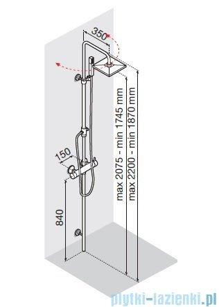 Novellini EASY 1 panel prysznicowy bateria termostatyczna EASYT-K