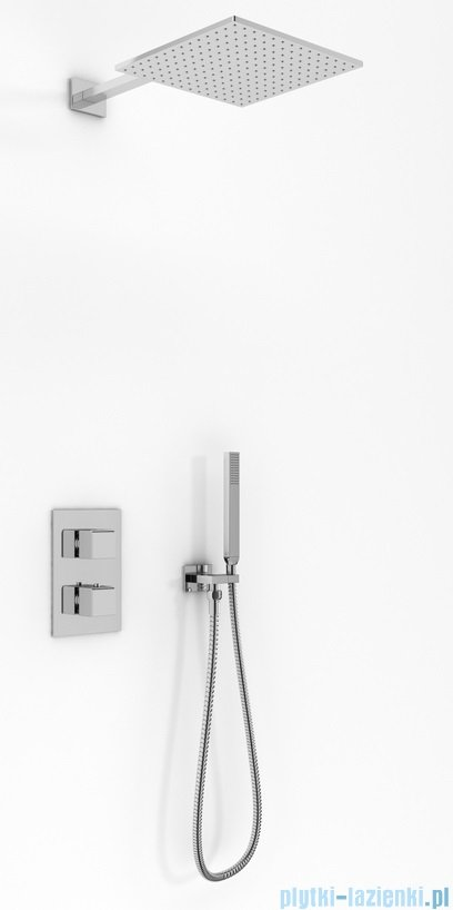Kohlman Excelent zestaw prysznicowy z baterią termostatyczną chrom QW432HQ25