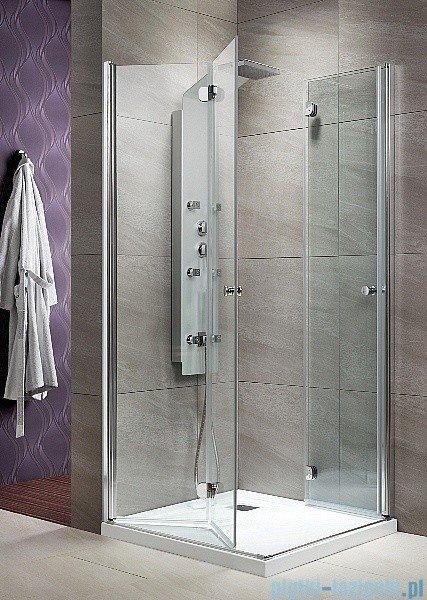 Radaway Eos KDD-B kabina prysznicowa 100x100 szkło przejrzyste + brodzik Delos C + syfon 37323-01-01N