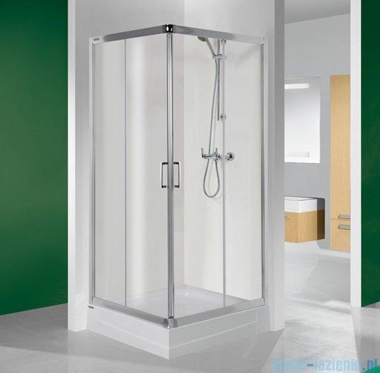 Sanplast kabina narożna kwadratowa KN/TX4-80 szkło przejrzyste 600-271-0020-38-400